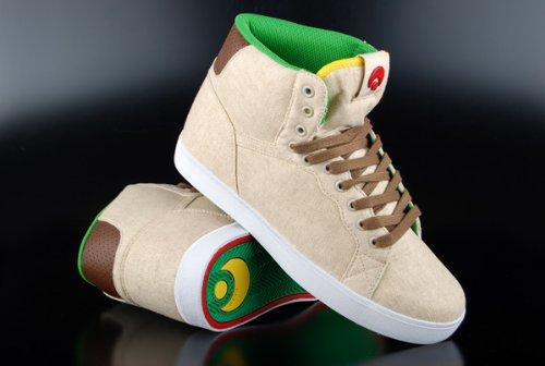 Osiris Grounds, Herren Hohe Sneaker, Beige - Beige (Tan/Brown/White) - Größe: 42,5 (High-top-osiris Schuhe)