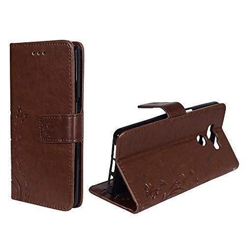 König-Shop Handy-Hülle für Elephone P9000 Tasche Case Cover Wallet Kunstleder Coffee
