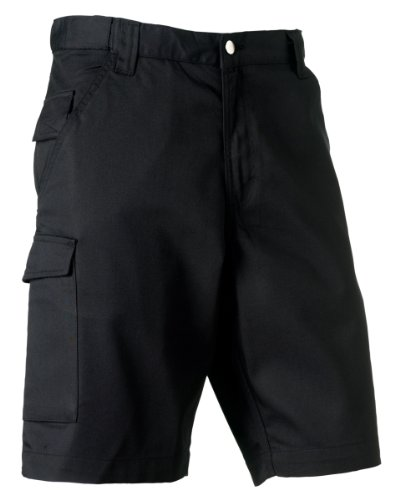 russell-002m-polycotton-twill-workwear-shorts-black-40