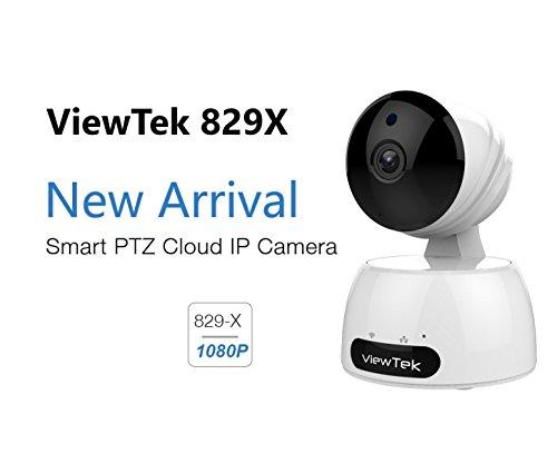 Viewtek 829x telecamera di sorveglianza interna full hd 1080p 1920x1080 ip wireless wifi - allarme - visione notturna - suono - motorizzato - interfaccia telefonica e pc in italiano
