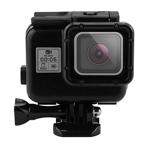 Preisvergleich Produktbild pawaca Wasserdichte Schutzhülle Gehäuse mit Quick Release Halterung für GoPro Hero 5 Hero 6 (Blackout) Action Kamera Unterwasser Tauchen schwarz Shell Box Schutzhülle