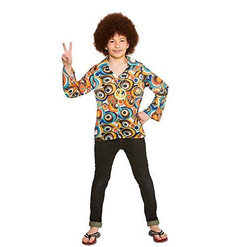 Jungen Retro Hippie Hemd und Medaillon (5-7 Jahre) (Feuer Nation Kostüm)