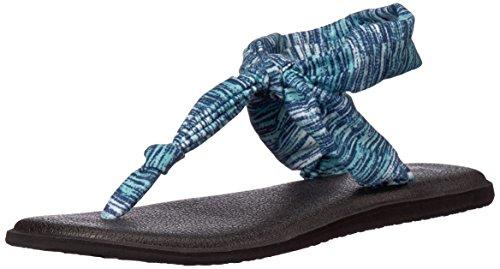 Sanuk Women's Yoga Sling Ella Prints Flip-Flop, Navy Space Dye, 07 M US -