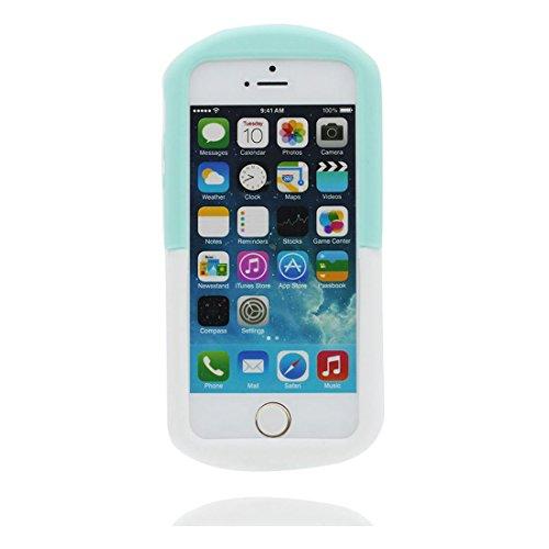 iPhone 5 Hülle, iPhone 5S 5C 5G Handyhülle, [TPU materielles flexibles stilvolles] iPhone SE Cover, iPhone 5S Case, (Pill) - Anti-Beulen 3D Cartoon Shell # 2