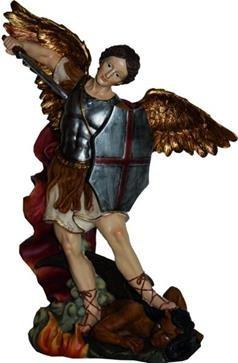 Heiligenfigur, Heiliger Michael, Höhe 20cm