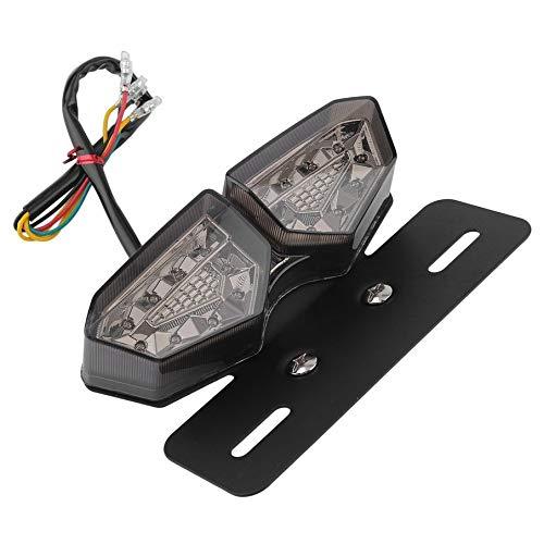 KNOSSOS Motorrad Rücklicht Bremslicht Helle LED Rücklicht Kennzeichenleuchte