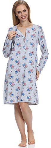 Merry Style Damen Nachthemd 1199 Melange-1A