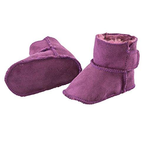 Premium smileBaby Lammfellschuhe Babyschuhe in verschiedenen Farben Lila