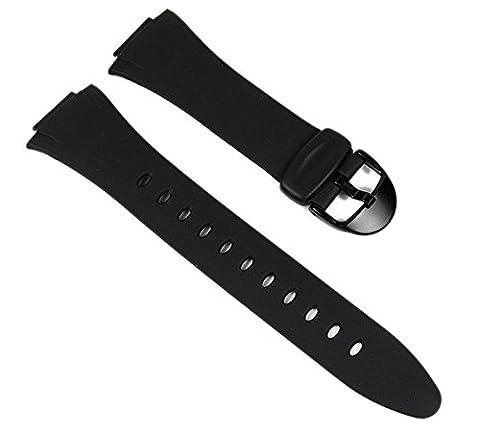 Casio Ersatzband Uhrenarmband Resin Band Schwarz für F-E10-1 F-E10