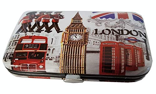 London Icons Maniküre-Set – Wort/Big Ben/Double Decker Routemaster Bus/Union Jack/Royal Guard/rote Telefonbox/Underground Schilder/nützliches britisches Souvenir