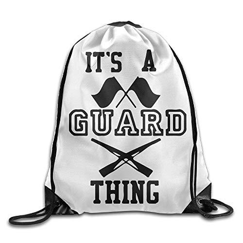 Its A Guard Thing Cool Drawstring Backpack String Bag Black200 Guard White Hat