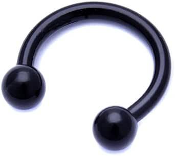 Piercing - Anello in acciaio chirurgico a ferro di cavallo per naso, labbro, orecchio - Hoop Ring Daith Tragus Ring