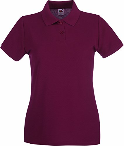 Lady-Fit Premium Poloshirt - Farbe: Burgundy - Größe: S (Burg Loom)