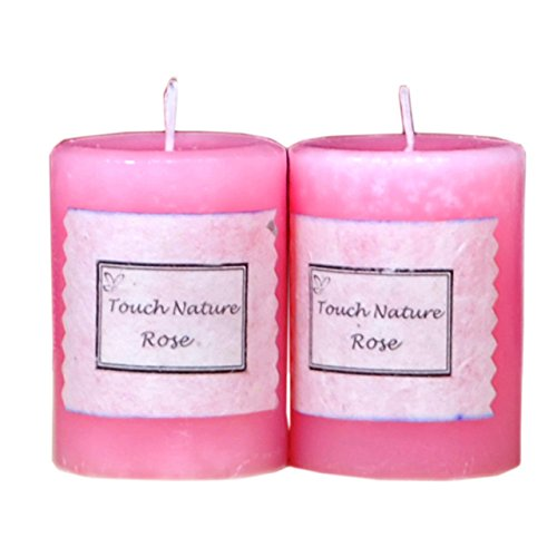 Touch Nature Double Aromatherapy Relaxing Rose Candle-2 Pcs