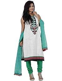 Manmandir Women's Straight Salwar Suit