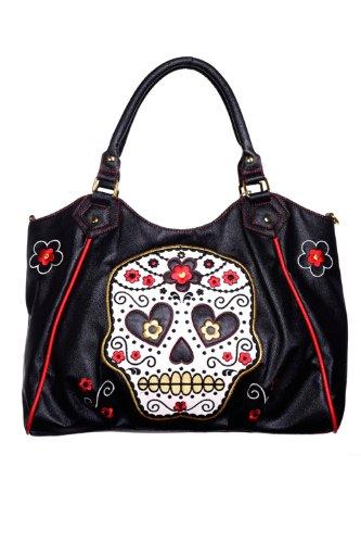 Banned Damen Henkeltasche - Sugar Skull Shopper Handtasche