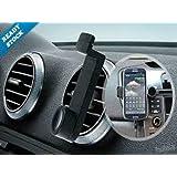 NUEVO MvPower Universal Soporte de Telefono Movil para en Las Ranuras de Rejilla de Ventilacion de Coche Sostenedor Ajustable para iPhone 4/4S 5 5S i9500 S5 HTC