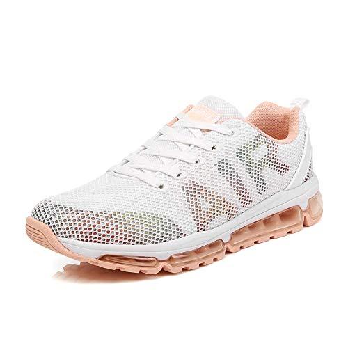 Uomo Donna Scarpe da Ginnastica Unisex Corsa Sportive Running Sneakers Casual all'Aperto(A61-WH37)