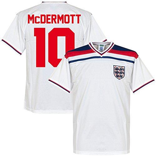 ScoreDraw 1982 England Home Retro Trikot + McDermott 10 - XL