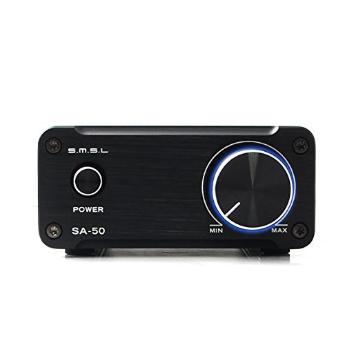 SMSL SA50 50WX2 TDA7492 Class T Amp Integrated Tripath Stereo Amplifier (Black)