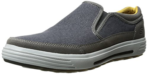 Skechers USA Men's Porter Compen Slip-On Loafer Navy/Gray
