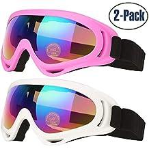 b99cf5a1e4a309 COOLOO Lunettes de Ski, Lot de 2 Masques Snowboard de Protection avec UV  400,