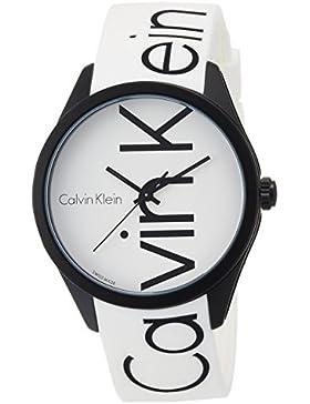 Calvin Klein Unisex-Armbanduhr Analog Quarz One Size, weiß