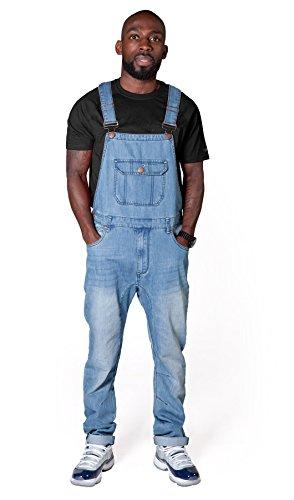 USKEES Jesse Latzhose, Skinny Fit - Hellblau Denim Overalls Slim Leg jean herren JESSEPW-XL-W38