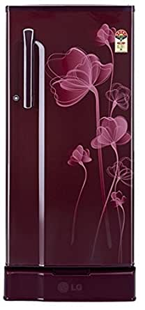 LG 190 L 5 Star Direct-Cool Single Door Refrigerator (GL-D205KSHN(SH), Scarlet Heart)