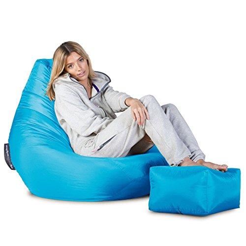 Highback Gaming Sitzsack Loungesessel - Aqua - 5