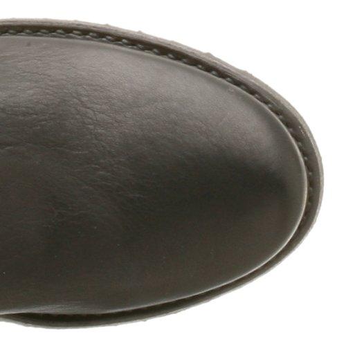 Frye veronica bonnet rond en cuir mode hauteur genou bottes Black