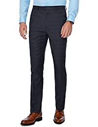 aeb09077a31 The Collection Men Big and Tall Navy Checked Tailored Fit Trousers
