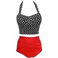 Amusement 1 * Bikini Split traje de baño para mujer adecuado para deportes al aire libre, color negro, tamaño extra-large