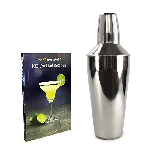 tuff-luv-personalised-manhattan-stainless-steel-cocktail-shaker-750ml-plus-recipe-book