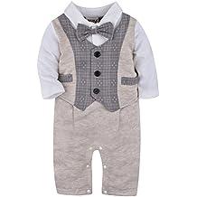 ZOEREA une pièce bébé garçon Costume de baptême costume enfant mariage  Barboteuse Baptême Cérémonie ... d2ba044eff5