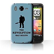 Coque de Stuff4 / Coque pour HTC Desire HD/G10 / Revolution Ragnarok Art Design / Citations Drôles Korg Collection