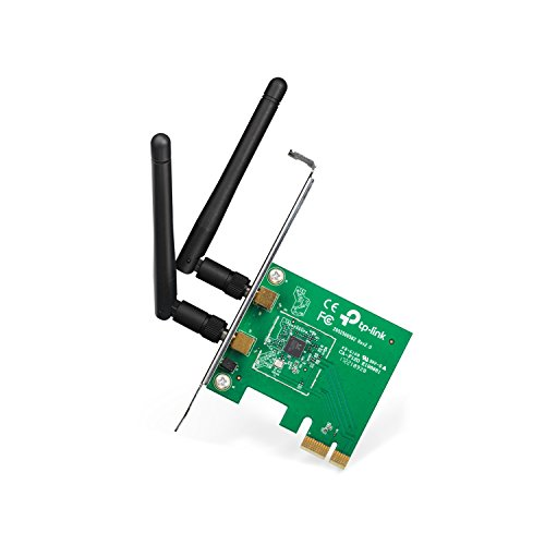 LAN PCI-E Adapter (bis zu 300Mbit/s, geeignet für Windows 10/8.x/Vista/7/XP) (Wireless-computer-karte)