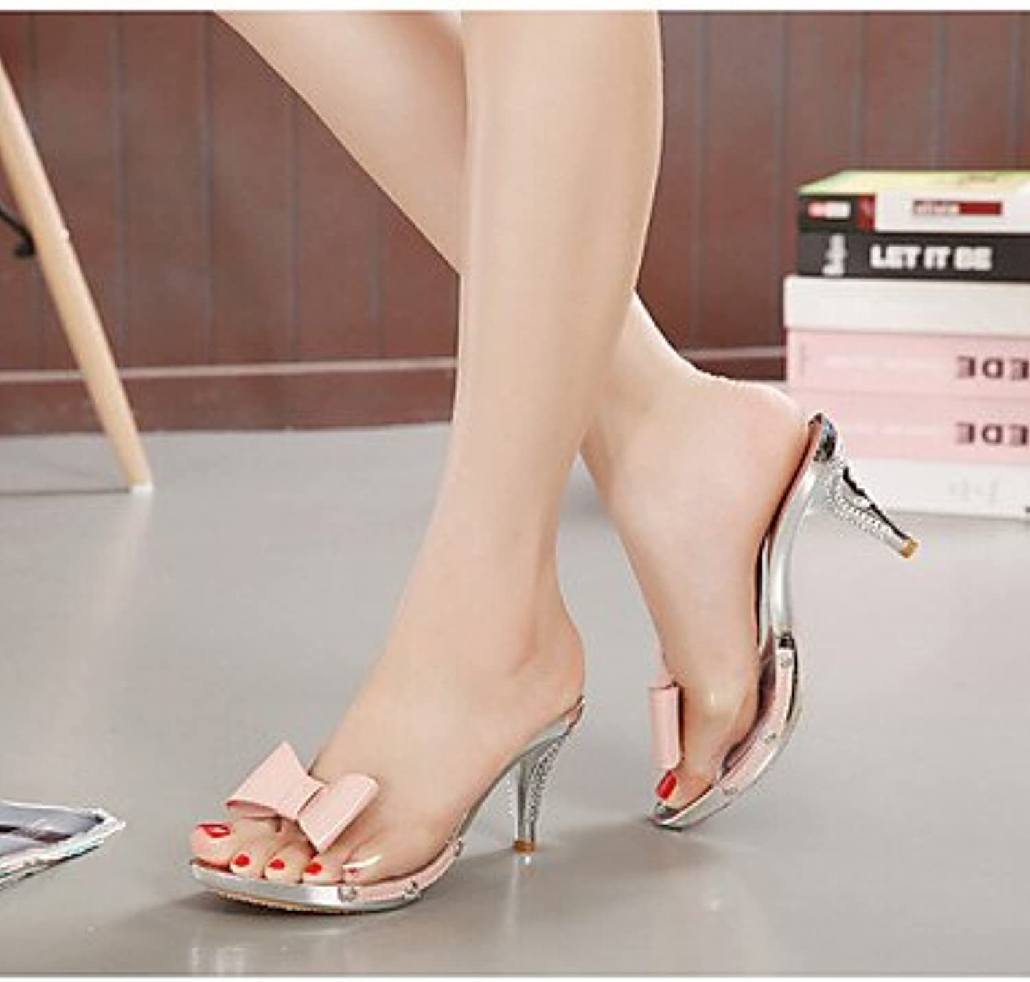 99049dcccdc0a RTRY Women S Summer Rubber Rubber Rubber Casual Kitten Heel Green Pink  White Parent B074CX7GM5 bc6183
