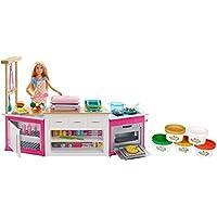 Barbie Cucina da Sogno con Bambola, 5 Aree di Gioco, Luci e Suoni, FRH73