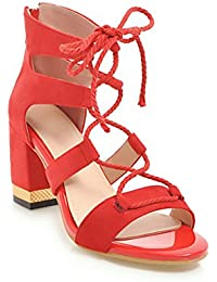 Damen Sommer Große Größe Sandalen Mode Flache Schuhe Damen Freizeitschuhe Draussen 32-43,Red,43