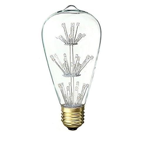 xinrong style vintage 220V 3W ampoule LED à Filament Décoratif base E27Blanc chaud 2700K Coque golw sur toutes les Sky Star Idéal pour les vacances de Festival de Noël extérieur intérieur Pendentif lumière