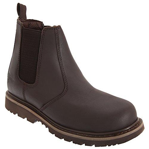 Grafters Herren Sicherheitsschuhe/Sicherheitsstiefel/Chelsea Boots (43 EUR) (Braun)