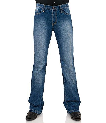 Jeans Bootcut Hose Star Cut Used Hüftjeans 31/32 (Star Jeans Männer)