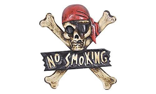 Totenkopf Schild NO SMOKING Deko Totenkopf-Deko PU1141