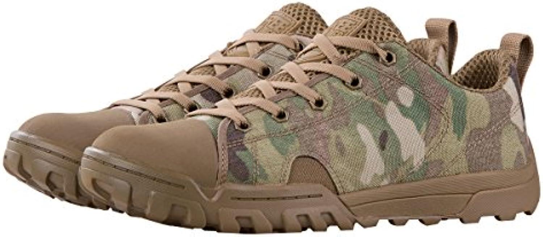 FREE SOLDIER Herren Stiefeletten Tactical Arbeit Stiefel Leicht Atmungsaktiv Military Stiefel Mid und Low Camo