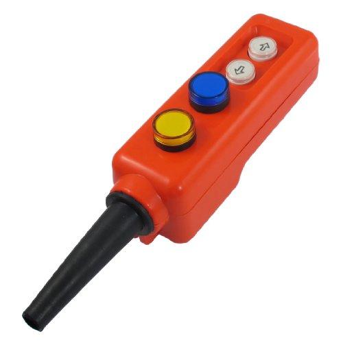 Gelb, Blau, LED, Up Down Momentary Flaschenzug Taktiler Schalter AC 380 V de Momentary Contact Push-button