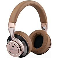 Zinsoko Z-H01 Wireless Active Noise Cancelling Headphones Over Ear Bluetooth Headphone Foldable with HI-FI Deep Bass, Comfortable Protein Earpad, Carry Case for Air Travel, 16 Hrs Playtime (Gold)