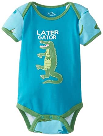 Hatley Baby Boys Infant Envelope Neck One Piece Later Gator Romper, Blue (Blue/Green), 3-6 Months