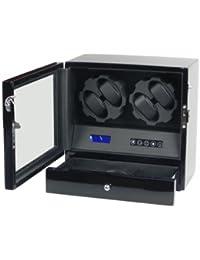 Vitrina movimiento relojes Watch Winder 4 Negra Carbon fiber LCD LED Modelo X205TC
