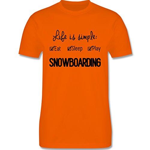 Wintersport - Life is simple Snowboarding - Herren Premium T-Shirt Orange